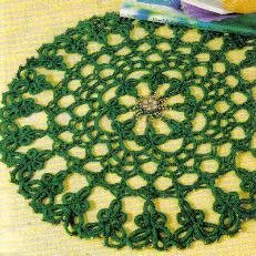 Beaded Shamrock Doily Free Crochet Pattern