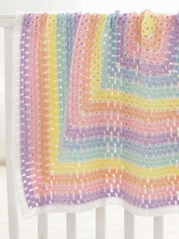 Beginner Daydream Baby Blanket Free Crochet Pattern