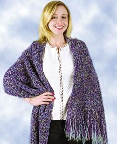 Beginner Purple Shawl Free Crochet Pattern