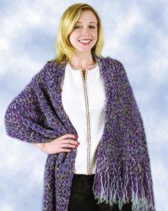 Beginner Purple Shawl Free Crochet Pattern