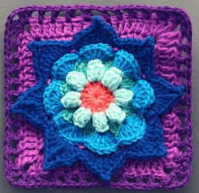 Blooming Daydreams Granny Square Free Crochet Pattern