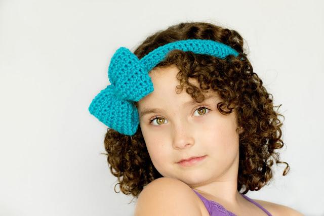 Bluebell Headband & Bow Free Crochet Pattern