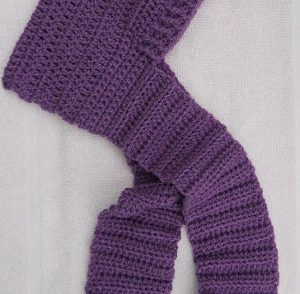 Blustery Day Hooded Scarf for Kids Free Crochet Pattern