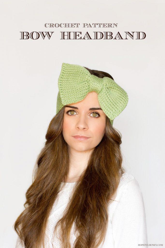 Bow Headband Free Crochet Pattern