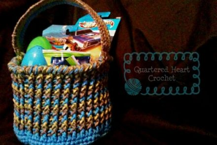 Boys Chunky Easter Basket Free Crochet Pattern