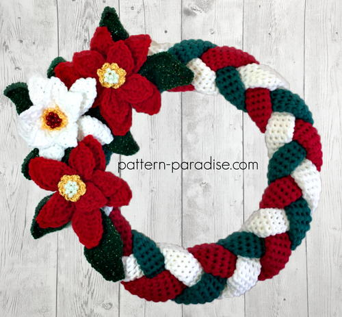 Braided Christmas Wreath Free Crochet Pattern