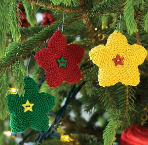 Bright Star Ornament Free Crochet Pattern