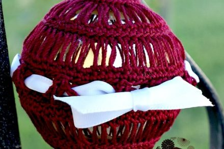 Broomstick Lace Ornament Free Crochet Pattern