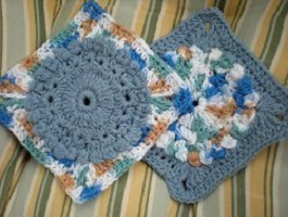 Budding Into Spring Granny Square Free Crochet Pattern