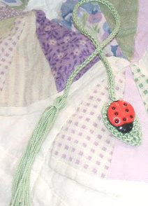 Bug on a Leaf Bookmark Free Crochet Pattern
