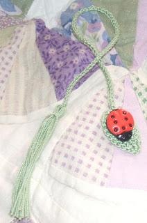 Bug on a Leaf Bookmark Free Crochet Pattern