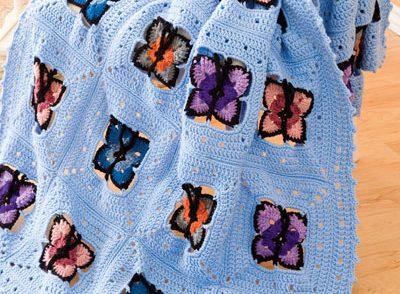 Butterflies of Spring Afghan Free Crochet Pattern