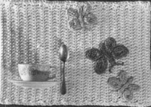 Butterfly Placemats Free Crochet Pattern
