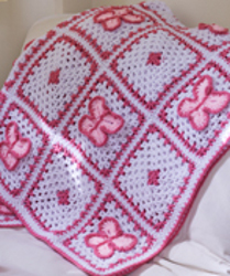 Butterfly Throw Free Crochet Pattern