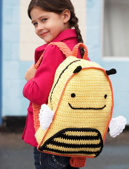 Buzzy Bee DIY Backpack Free Crochet Pattern