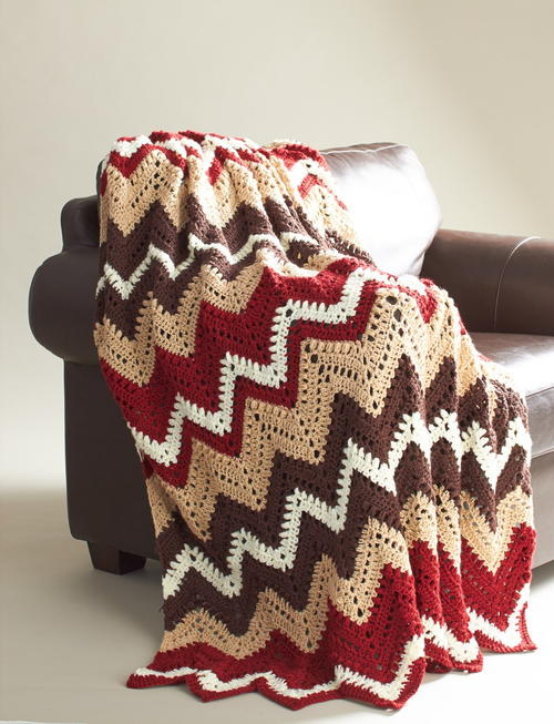 Cabin in the Woods Afghan Free Crochet Pattern