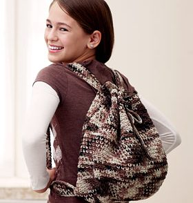 Camouflage Backpack Free Crochet Pattern