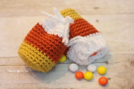 Candy Corn Pouch Free Crochet Pattern