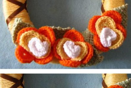 Candy Corn Wreath Free Crochet Pattern
