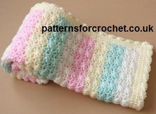 Candy Stripe Baby Blanket Free Crochet Pattern