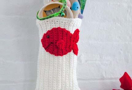 Cat Paw Christmas Stocking Free Crochet Pattern