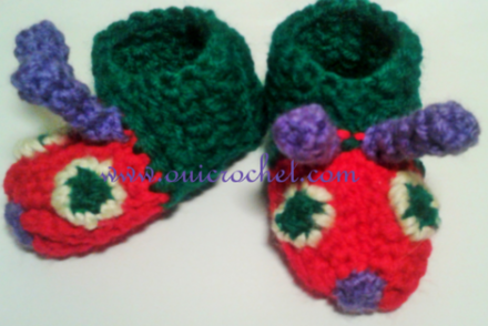 Caterpillar Baby Slippers Free Crochet Pattern