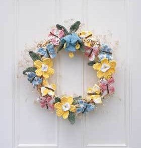Celebrate Spring Wreath Free Crochet Pattern