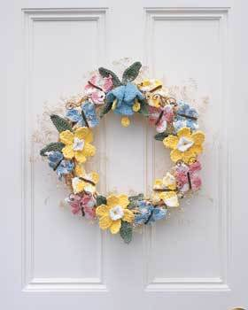 Celebrate Spring Wreath Free Crochet Pattern Craft Ideas For