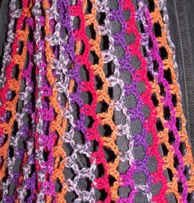 Chain Maille Scarf Free Crochet Pattern
