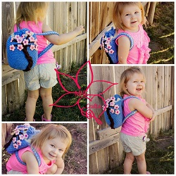 Cherry Blossom Backpack Free Crochet Pattern