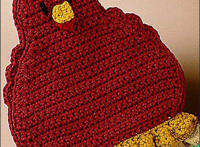 Chicken Towel Topper Free Crochet Pattern