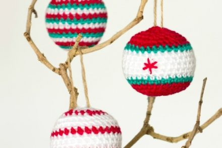 Christmas Jingle Ball Ornaments Free Crochet Pattern