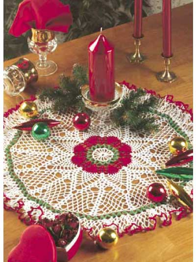Christmas Pineapple Doily Free Crochet Pattern