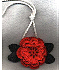 Christmas Rose Towel Ring Free Crochet Pattern
