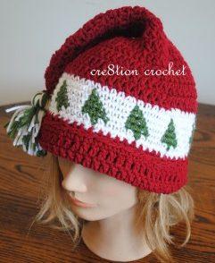 Christmas Tree Cap Free Crochet Pattern