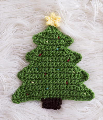 Christmas Tree Pot Holder Free Crochet Pattern