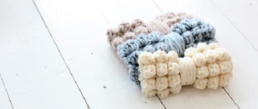 Chunky Bobble Bow Free Crochet Pattern
