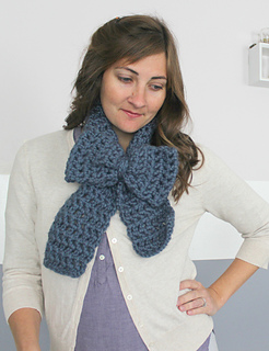 Chunky Bow Scarf Free Crochet Pattern