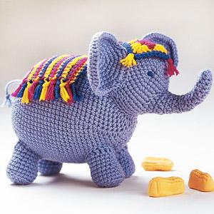 Circus Elephant Free Crochet Pattern
