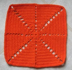 Citrus Spray Afghan Square Free Crochet Pattern
