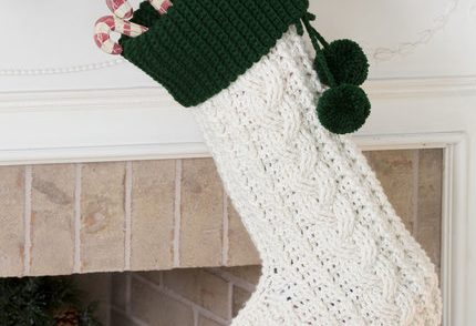 Classic Christmas Stocking Free Crochet Pattern
