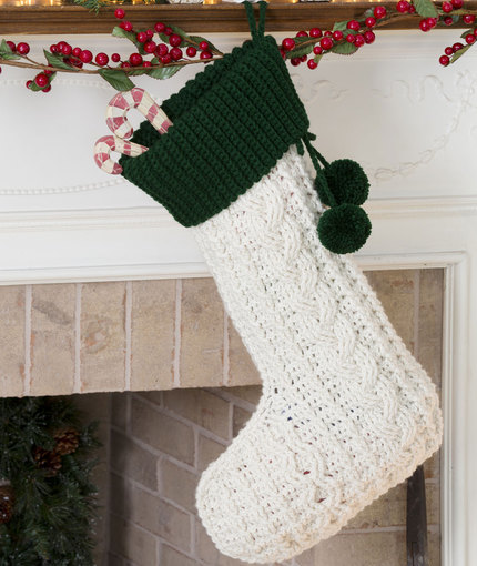 Classic Christmas Stocking Free Crochet Pattern