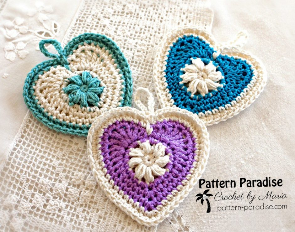 Classic Heart Sachet Free Crochet Pattern