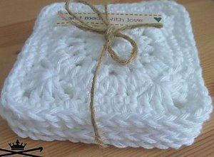 Cloud Lace Coasters Free Crochet Pattern