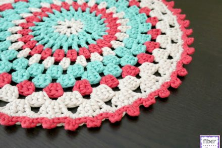 Coastal Placemat Free Crochet Pattern