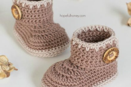 Cocoa Baby Ankle Booties Free Crochet Pattern