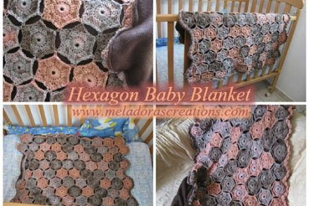 Colorful Hexagon Baby Blanket Free Crochet Pattern
