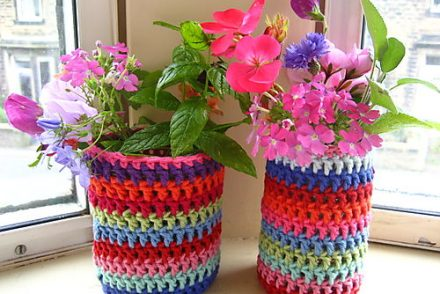 Colorful Jar Jacket Free Crochet Pattern
