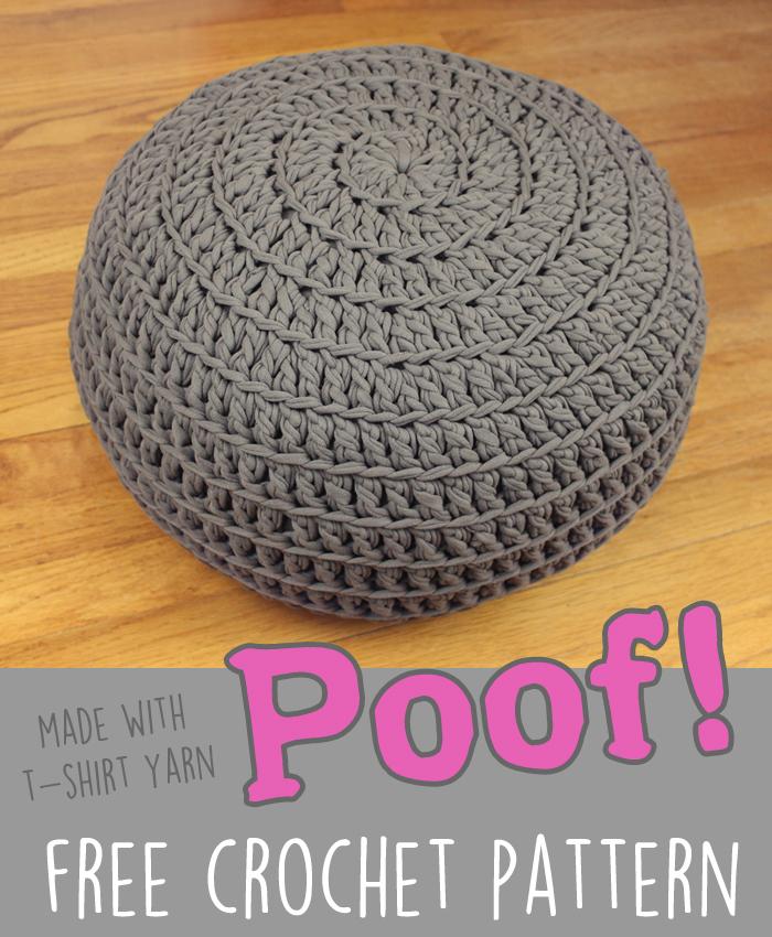 Comfy Pouf Free Crochet Pattern