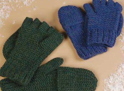 Convertible Mittens Free Crochet Pattern